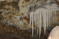 Belleza de la cueva minerales fotos de archivo
