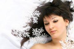 Belleza de la nieve Imágenes de archivo libres de regalías