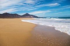 Belleza de la playa de Cofete Fotografía de archivo libre de regalías