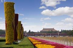Belleza de la Plaza de Tiananmen de China foto de archivo libre de regalías