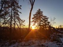 Belleza de la puesta del sol Foto de archivo libre de regalías