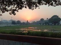 Belleza de la puesta del sol foto de archivo