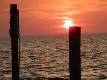 Belleza de la puesta del sol Imagenes de archivo