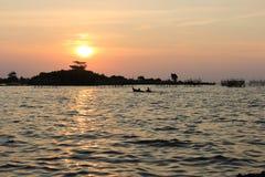 Belleza de la puesta del sol Imagen de archivo libre de regalías