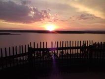 Belleza de la puesta del sol Fotografía de archivo