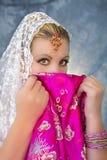 Belleza de la sari Imagen de archivo libre de regalías