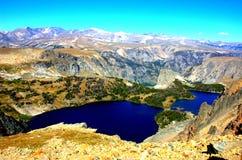 Belleza de los lagos de las montañas del estado de Montana Fotografía de archivo