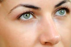 Belleza de ojos verdes Fotografía de archivo