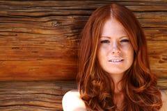 Belleza de Redhair Imagen de archivo libre de regalías