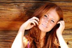 Belleza de Redhair Fotografía de archivo