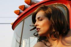 Belleza del camionero Foto de archivo libre de regalías