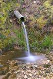Belleza del canalón de agua Foto de archivo libre de regalías