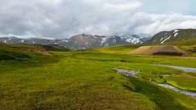 Belleza del paisaje de Islandia en Europa Fotos de archivo