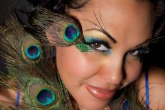 Belleza del pavo real Foto de archivo