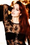 Belleza del Redhead Foto de archivo libre de regalías