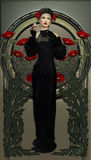 Belleza del Victorian en negro Imagenes de archivo