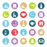 Belleza e iconos aislados vector del balneario Editable ilustración del vector