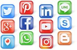 belleza e iconos coloridos para el web y los apps foto de archivo libre de regalías