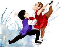 Belleza en el hielo ilustración del vector
