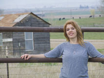 Belleza en la granja Foto de archivo libre de regalías