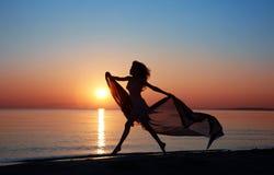 Belleza en la puesta del sol Imagen de archivo libre de regalías