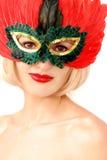 Belleza en máscara Imágenes de archivo libres de regalías