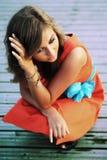 Belleza en naranja Imagen de archivo libre de regalías
