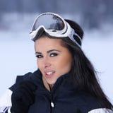 Belleza en nevoso al aire libre Imagenes de archivo