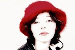Belleza en rojo Imagen de archivo libre de regalías