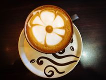 Belleza en una taza de café Fotografía de archivo