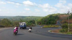Belleza escénica de Kunkalyem Goa foto de archivo libre de regalías