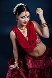 Belleza india en ropa y accesorios tradicionales Imagenes de archivo
