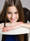 Belleza joven expresiva. Imagen de archivo libre de regalías