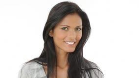 Belleza latina feliz almacen de metraje de vídeo