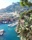 Belleza mediterránea entre Francia e Italia Fotos de archivo