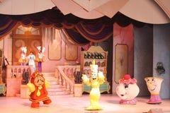 Belleza musical y la bestia en Disneyworld Fotografía de archivo