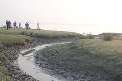 Belleza natural de la isla de Monpura Fotos de archivo