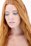 Belleza natural del redhead Imagen de archivo