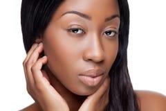 Belleza negra joven Imagen de archivo libre de regalías