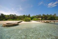 Belleza no dicha del atolón Coral Reef Island Imágenes de archivo libres de regalías