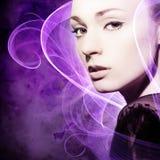 Belleza púrpura Imagen de archivo libre de regalías