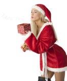 Belleza Papá Noel Foto de archivo libre de regalías