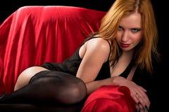 Belleza Redheaded Foto de archivo libre de regalías