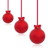 Belleza roja de la chuchería de la Navidad Imagenes de archivo
