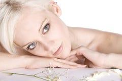 Belleza rubia Fotografía de archivo libre de regalías