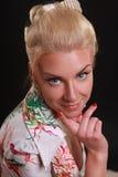 Belleza rubia Fotografía de archivo