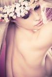 Belleza rubia Foto de archivo libre de regalías
