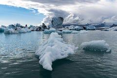 Belleza sin fin de Œan del ¼ de Lagoonï del glaciar de Jokulsarlon foto de archivo libre de regalías