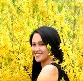 Belleza sonriente foto de archivo libre de regalías