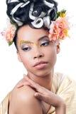 Belleza tirada de una mujer joven Fotos de archivo